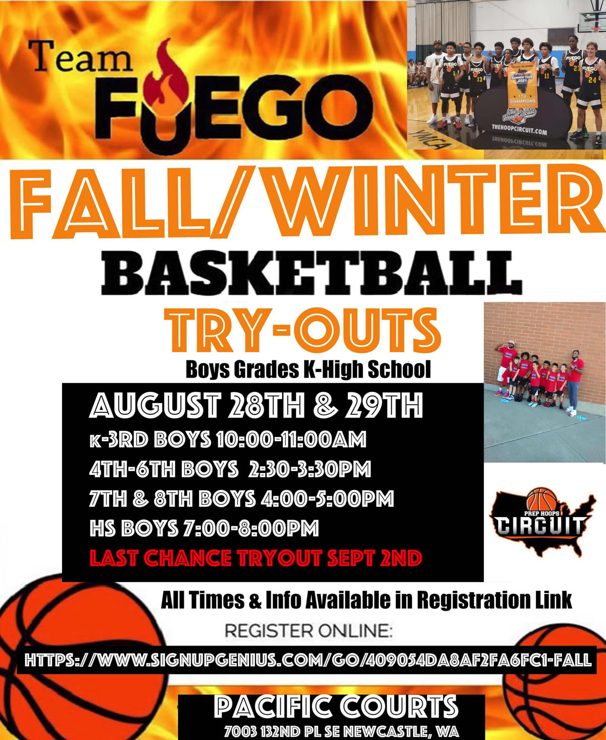 Team Fuego 2021 Tryouts